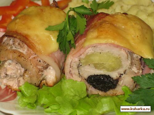 Рецепт Свинина с ананасом и черносливом