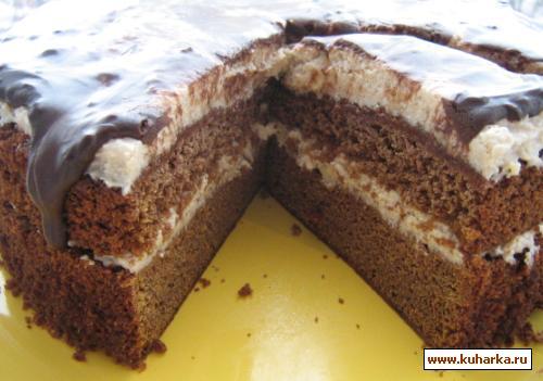 Рецепт Тыквенно-шоколадный торт