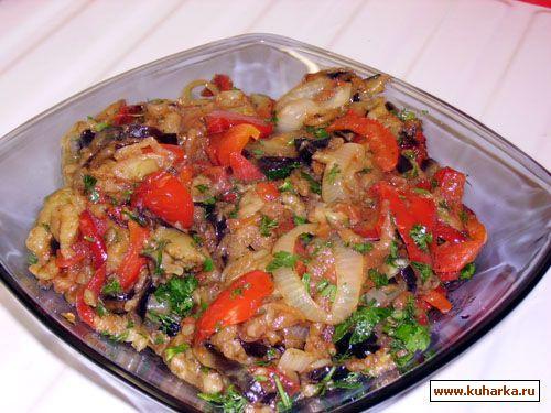 Баклажаны жареные с овощами рецепты пошагово