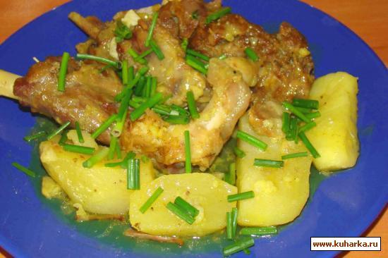 Рецепт Ширяли гойун ети картофла (баранина в собственном соку с картошкой)