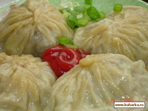Рецепт Кийма манты (манты с мясом)