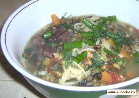Рецепт Мош - Угро, машевый суп с лапшой