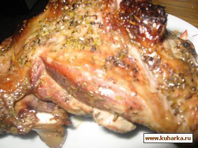Рецепт Бедро индейки с розмарином,мёдом и сухофруктами