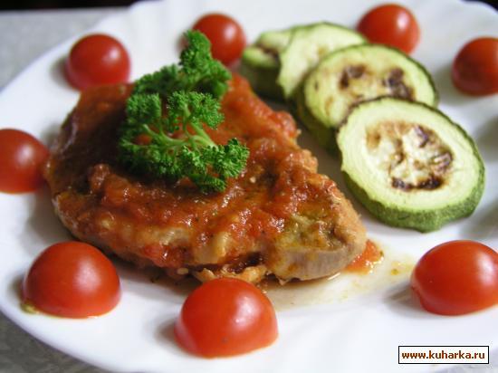 Рецепт Котлеты из свинины с помидорами и чесноком