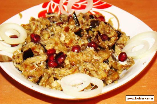 Рецепт Баклажаны с грибами в сметане