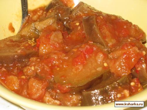 Рецепт Баклажаны в аджике