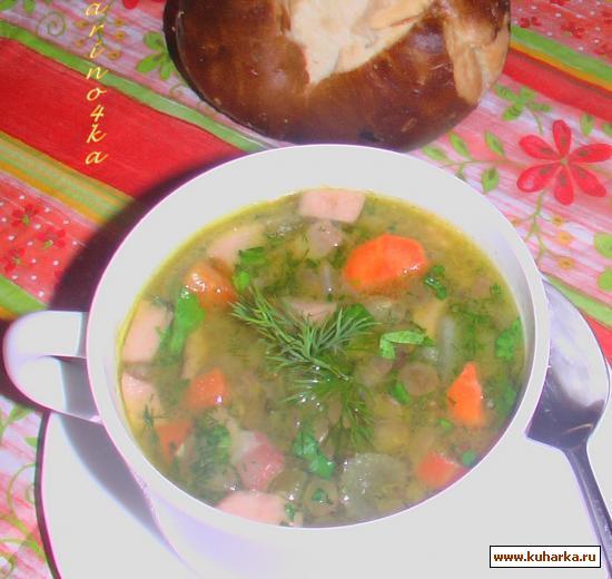 """Рецепт Густой суп из чечевицы """"Linseneintopf"""""""