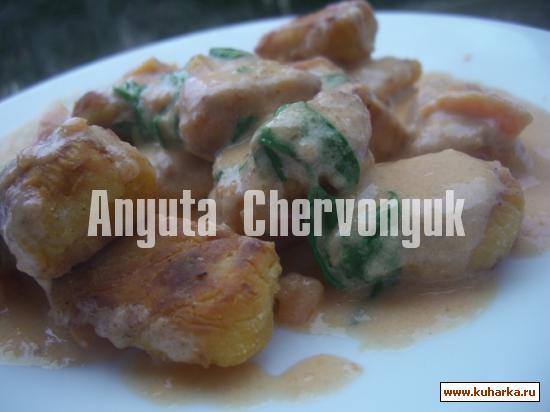 Рецепт Жаренные тыквенные ньоки (gnocchis)