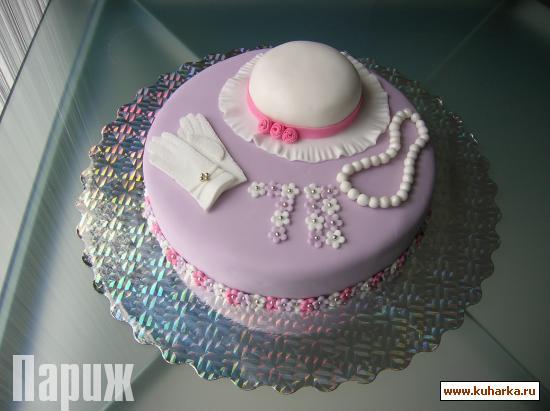 Как украсить торт мастикой для женщин