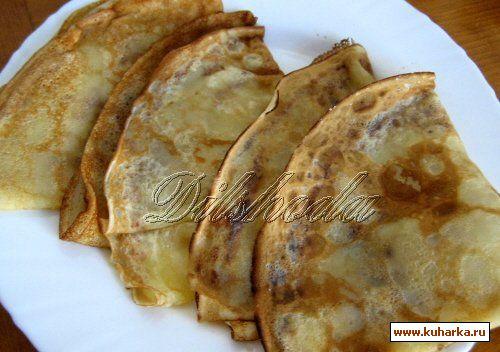Рецепт Блинчики со сливочным маслом