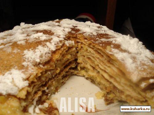 Рецепт Блинчатый пирог с лимонным кремом
