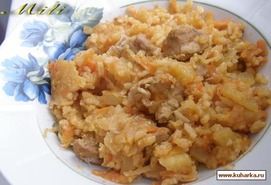 Рецепт Овощное рагу с рисом и мясом.