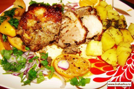 Рецепт Мясо запеченое с пряностями в духовке