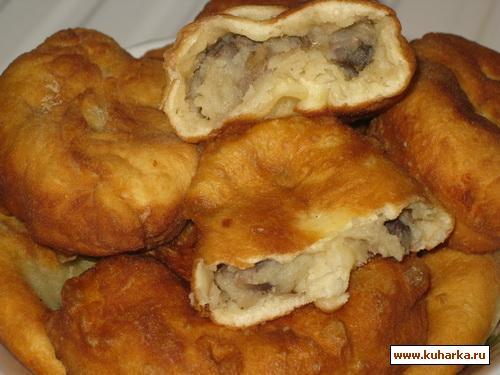 Рецепт Жареные пирожки на кефире с картошкой и грибами
