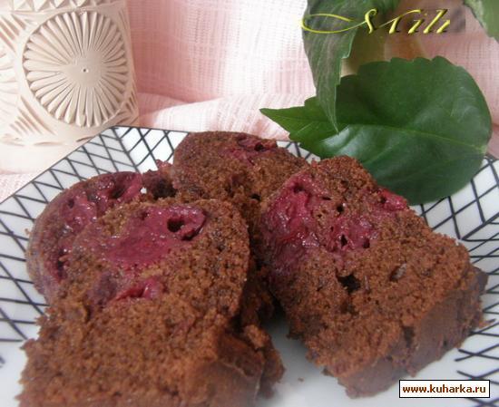 Рецепт Шоколадный кекс с вишней