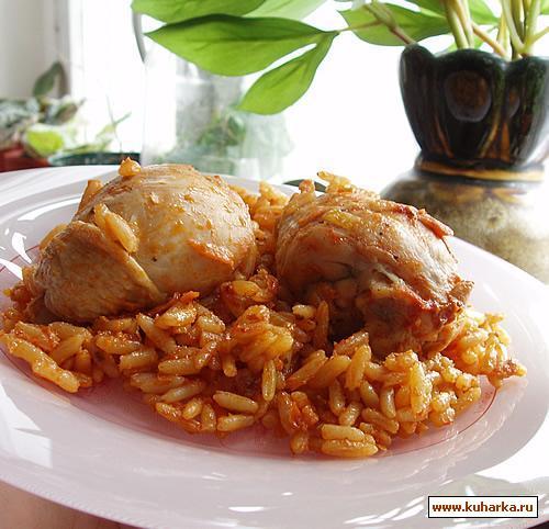 Рецепт Рис с курицей и аджикой