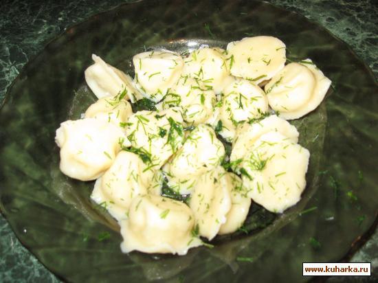 Рецепт Пельмени постные с кальмарами