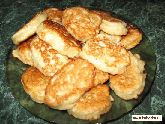 Рецепт Оладушки с яблоками дрожжевые постные