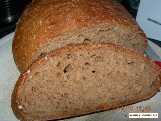 Рецепт Хлеб из муки грубого помола с отрубями
