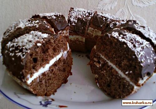 Рецепт Шоколадный кекс с творожным кремом