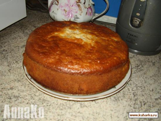 Рецепт Быстрый творожный пирог-ватрушка