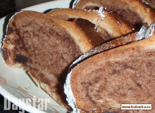 """Рецепт Кекс """"Мраморный"""" на яичном ликере с ванильным ароматом"""