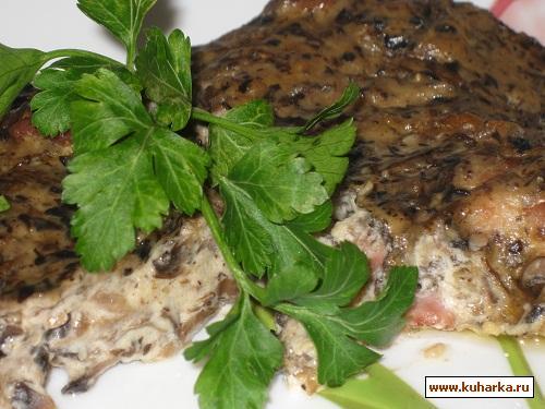 Рецепт Курица в сливочно-грибном соусе