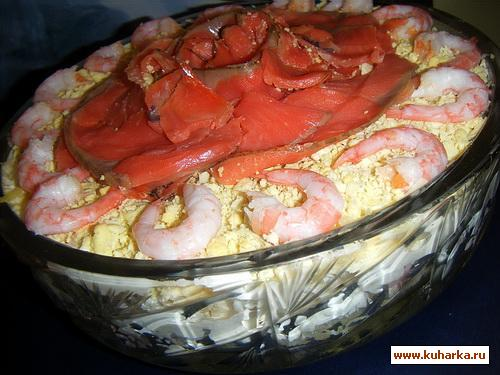 Рецепт Праздничный Рыбный Салат