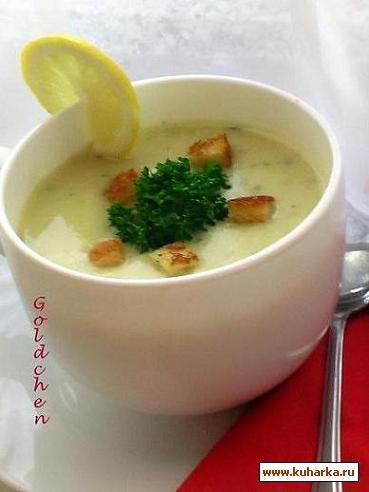 Рецепт Кремовый суп из кольраби/Kohlrabicremesuppe