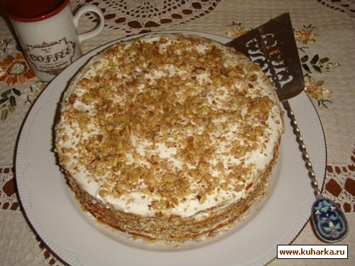 Рецепт Медовый торт с зефиром