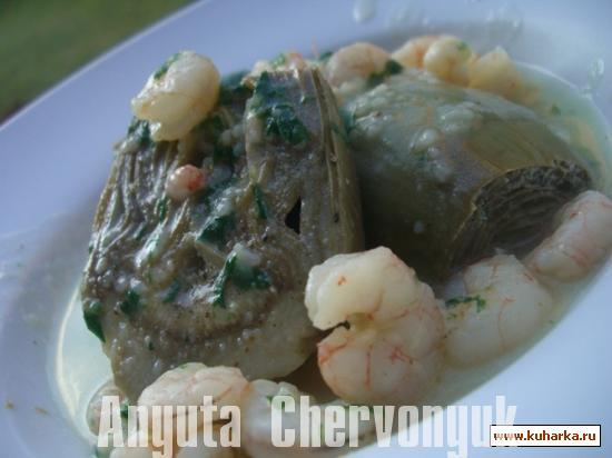 Рецепт Артишоки с зелёным соусом (Alcachofas con salsa verde)