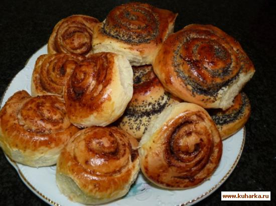 Рецепт Плюшки с маком и корицей