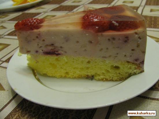 Рецепт Творожно-желейный тортик