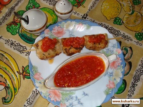 Рецепт Быстрый куриный шашлык в пикантном маринаде