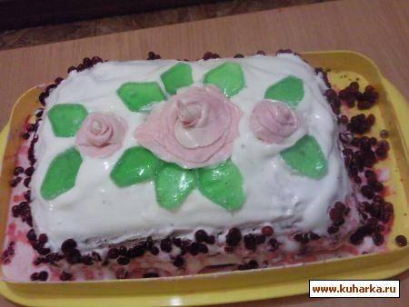 Рецепт Брусничный торт