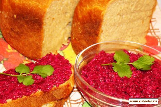 Рецепт Закуска из свеклы с грецкими орехами