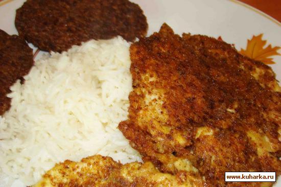 Рецепт Котлетки из гречки и куриные отбивные в сухарях