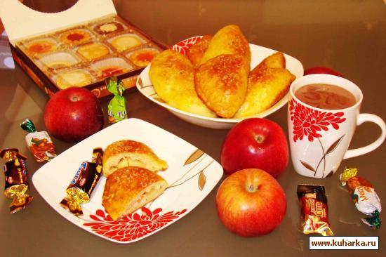 Рецепт Творожные пышки с яблочной начинкой