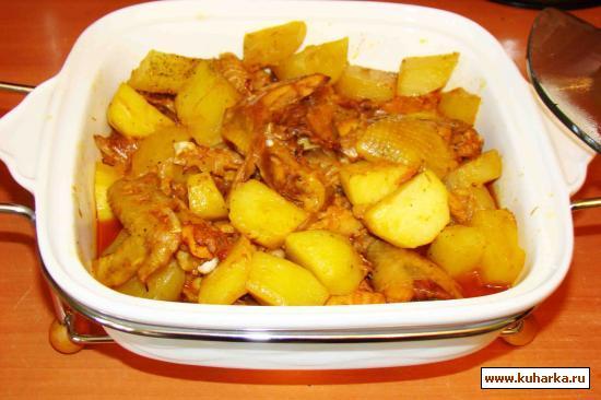 Рецепт Ароматная курочка из духовки