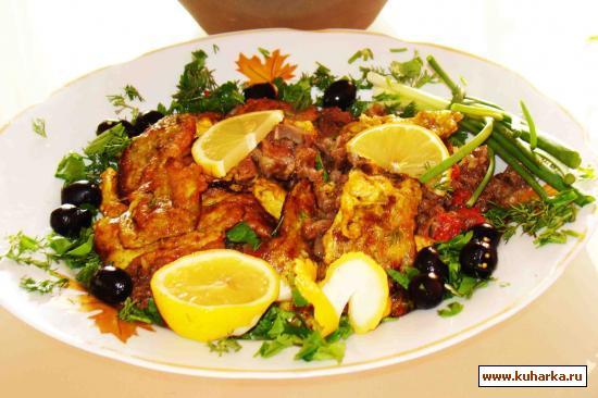 Рецепт Таджин из баклажан (восточная кухня)