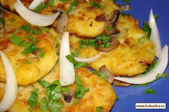 Рецепт Картофельные котлетки с грибной начинкой