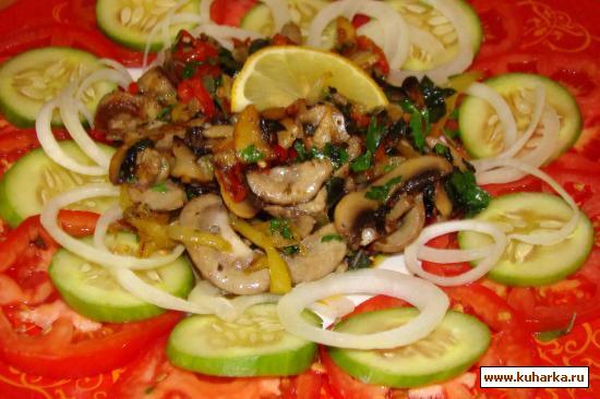 Рецепт Почки с овощами и грибами