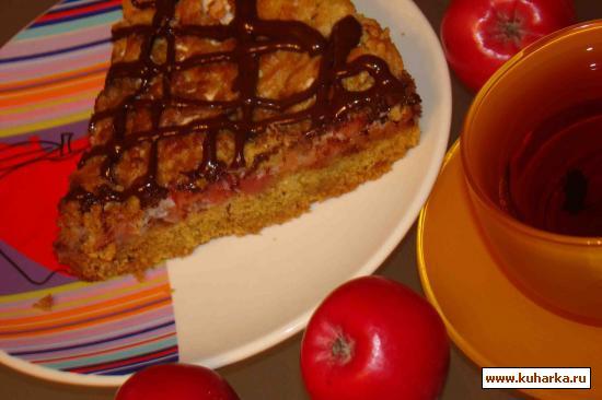 Рецепт Яблочный пирог с безе