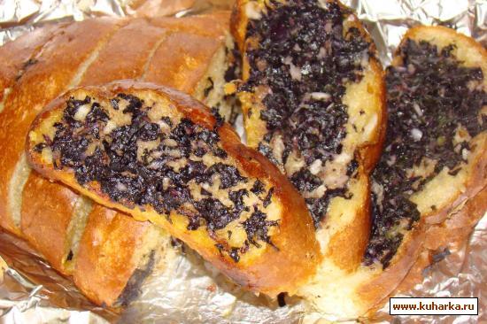 Рецепт Чесночный хлеб с базиликом