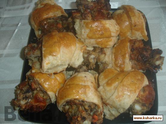Рецепт Куриные голени фаршированные в слоеном тесте
