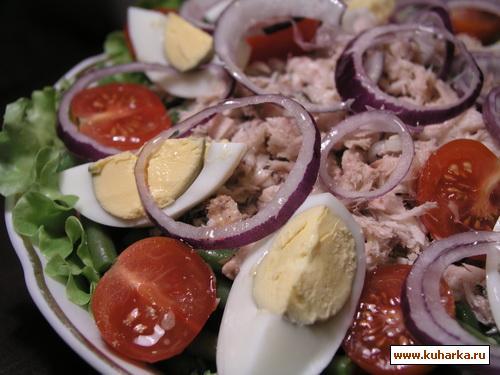 Рецепт Зеленый салат с тунцом