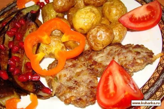 Рецепт Котлеты с жареным луком