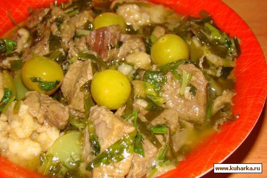 Рецепт Баранина с алычой