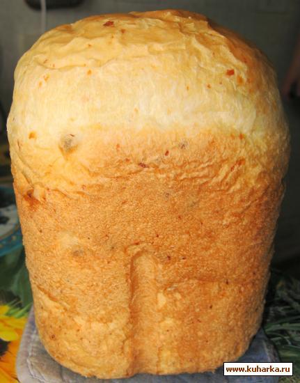 Рецепт Хлеб с сыром и сырокопчeной колбасой