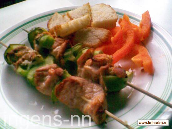 Рецепт Рыбный шашлычок